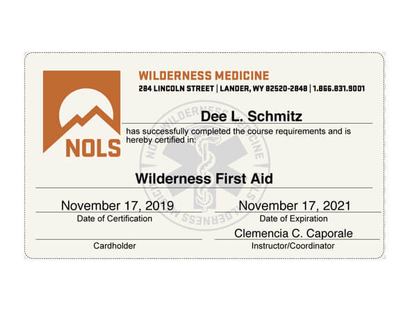 certification nols lessons important safety
