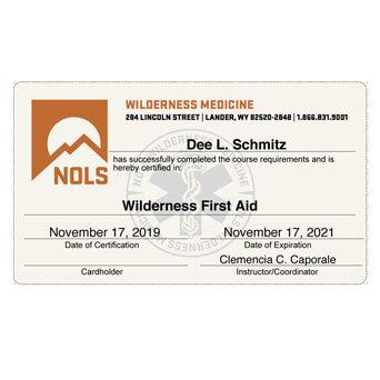 NOLS WFA Certification