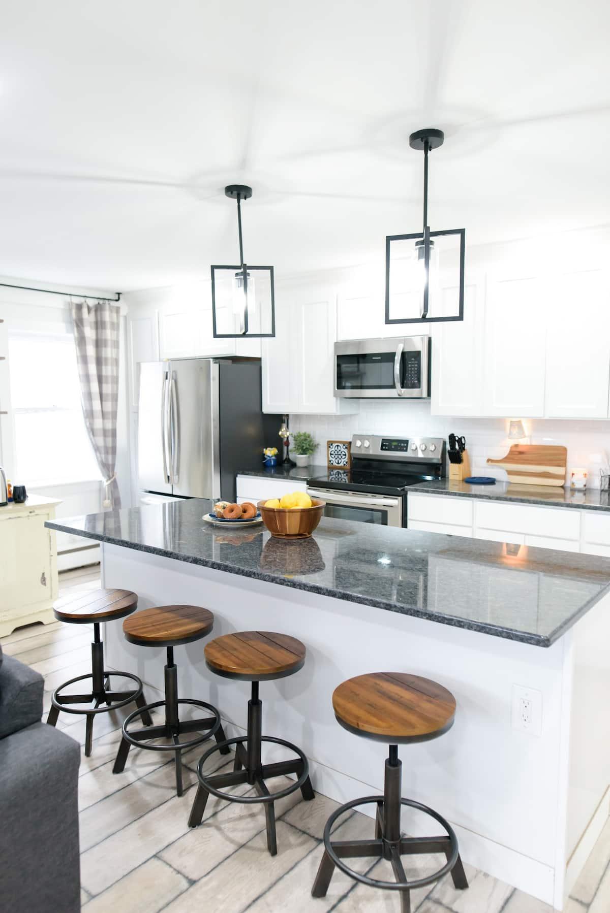 Kitchen at Latitude Lake House