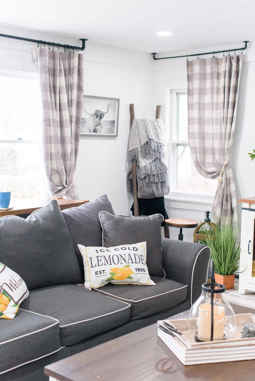 Living Room at Latitude Lake House